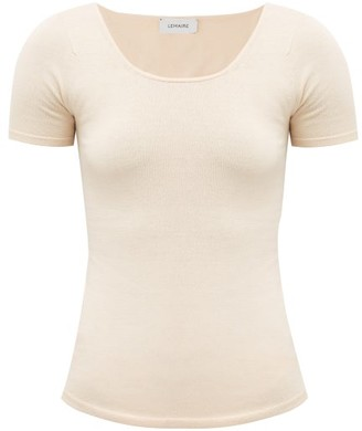 Lemaire Scoop-neck Seamless Jersey Top - Nude