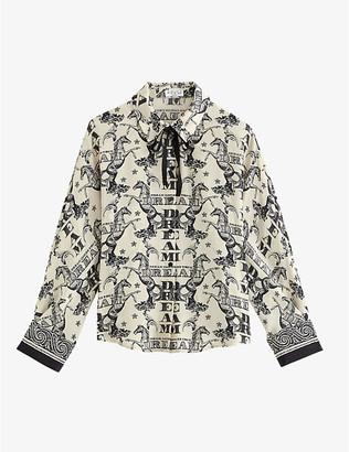 Claudie Pierlot Choupie Dream graphic-print silk shirt