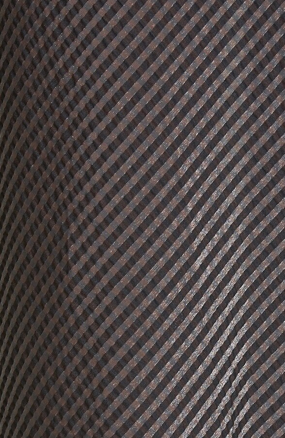 Thumbnail for your product : Ganni Seersucker Check Square Neck Dress