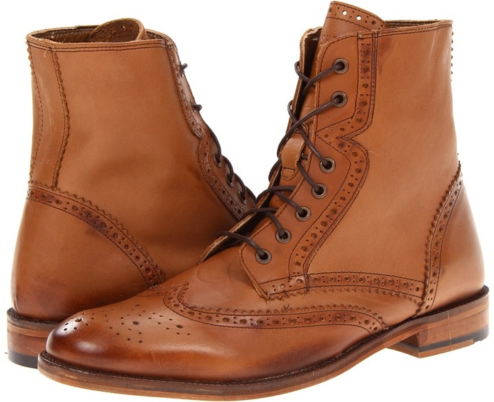 Ben Sherman Alto Brogue Boot (Tan) - Footwear