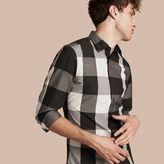 Burberry Graphic Check Cotton Shirt