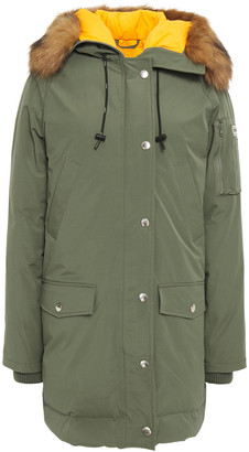 Kenzo Faux Fur-trimmed Shell Hooded Down Parka
