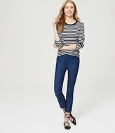 LOFT Modern Kick Crop Trouser Jeans in Indigo Wash