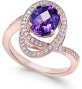 Macy's Amethyst (5/8 ct. t.w.) and Diamond (1/3 ct. t.w.) Ring in 14k Rose Gold