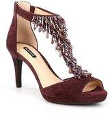 Alex Marie Dellah Beaded Suede Dress Sandals