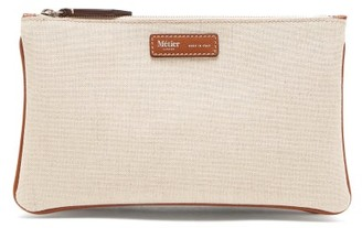 BEIGE Metier - Larger Things Multi-zipped Linen Pouch - Womens
