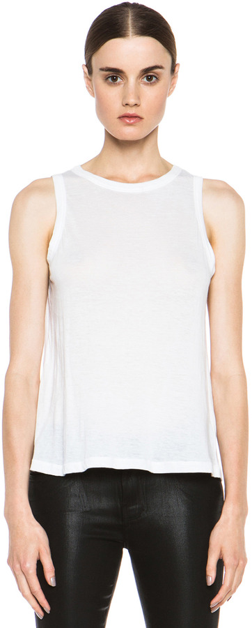 A.L.C. Muscle Jersey Tee in White