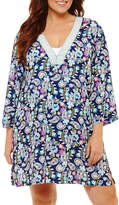 Liz Claiborne Paisley Woven Swimsuit Cover-Up Dress-Plus