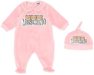 MOSCHINO BAMBINO Logo Print Babygrow Set