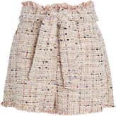 IRO Vany Belted Tweed Shorts