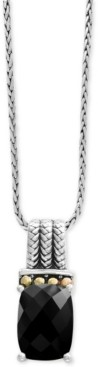 Effy Balissima by Onyx Pendant Necklace in Sterling Silver and 18k Gold