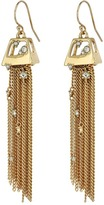 Alexis Bittar Geometric Tassel Wire with Crystal Detail Earrings Earring
