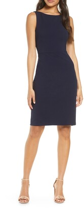 Vince Camuto Bow Back Scuba Crepe Sheath Dress