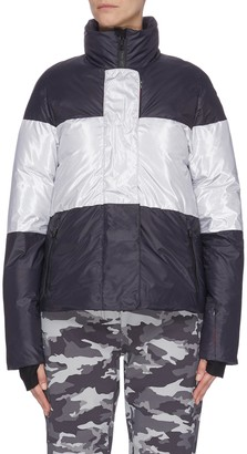 Erin Snow Lola' colourblock panelled high neck aluminium stripe performance jacket