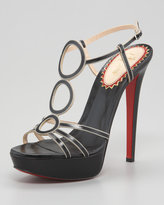 Christian Louboutin Troisronds Leather Red Sole Sandal