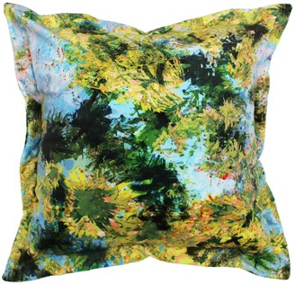 Emily Laura Designs Green Canopy Velvet Cushion