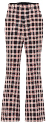 Gucci Checked wool-tweed flared pants