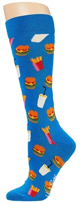Happy Socks Hamburger Sock (Bright Green) Men's Crew Cut Socks Shoes