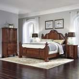 Home Styles Santiago Wood 4-Piece King Bed, Nightstands, and Door Chest Set in Cognac