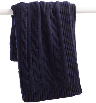 A & R Cashmere Cable Knit Cashmere-Blend Throw