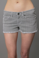Venice Striped Denim Cut Offs