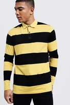 Horizontal Stripe Rugby Polo