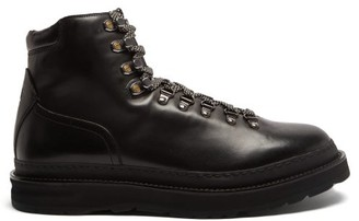 Dunhill Traverse Lace-up Leather Boots - Black
