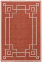 Surya Geometric Border Indoor/Outdoor Rug