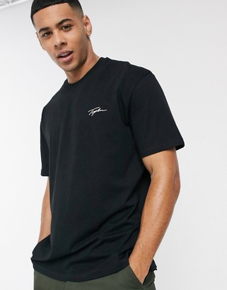 Topman t-shirt with signature print in black