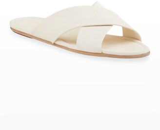 Pedro Garcia Roma Leather Crisscross Slide Sandals