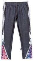 Zara Terez Girl's Printed Banded-Waist Leggings