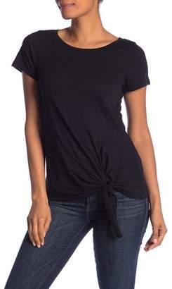 Susina Short Sleeve Tie Front T-Shirt