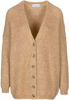 By Bar By-Bar - Camel Mohair and Wool Elisabeth Womens Cardigan - Mohair/wool | camel | xsmall - Camel