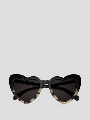 Saint Laurent Loulou Heart-Shaped Sunglasses