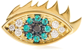Delfina Delettrez Emerald, diamond & yellow-gold earring