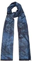 Etro Paisley And Ship-jacquard Scarf