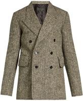 Burberry Double-breasted herringbone-tweed blazer