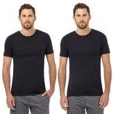 The Collection Pack Of Two Black Crew Neck T-shirts