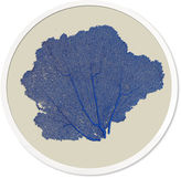 Karen Robertson Round Sea Fan, China Blue
