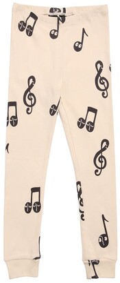 Mini Rodini Music Note Print Organic Cotton Leggings