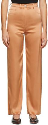 Nanushka Orange Satin Drew Trousers