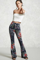 Forever 21 FOREVER 21+ Floral Print Flared Pants