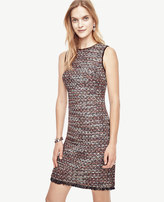 Ann Taylor Sequin Tweed Sheath Dress