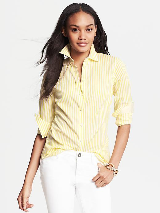 Banana Republic Fitted Non-Iron Candy Stripe Shirt