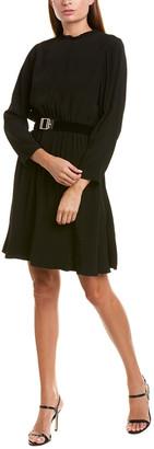 Sandro Magenta A-Line Dress