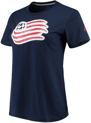 adidas Women's Navy New England Revolution Performance Primary Logo T-Shirt
