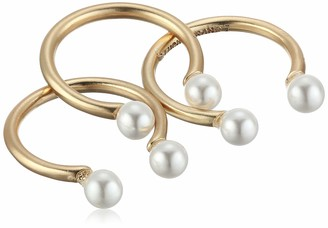 Lucky Brand Jewelry Adjustable Pearl Ring Stack