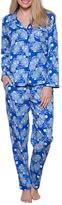 Cyberjammies Maya Floral Print Pyjamas, Blue