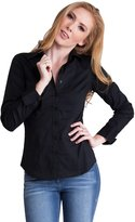 Clothes Effect Fuchsia Ladies Tailored Button Front & Cuffs Long Sleeve Shirt