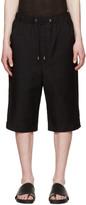 Thamanyah Black Woven Shorts